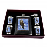 Eagle Hip Flask Set - 18 oz