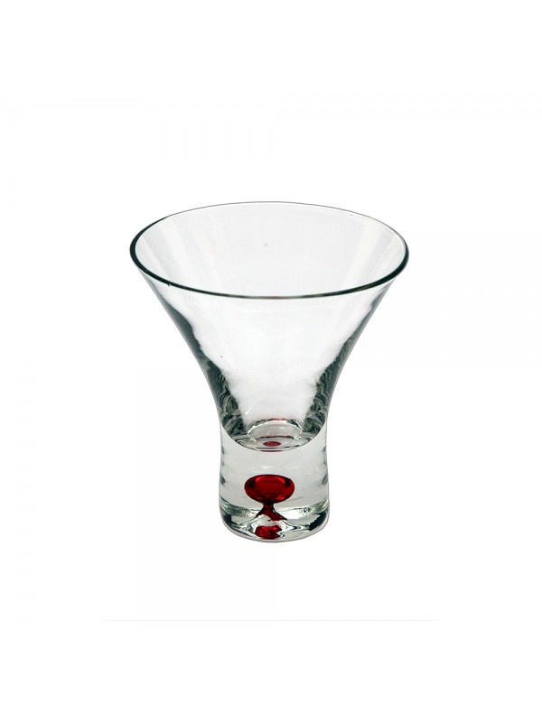 Shot Glasses with Colored Base - red