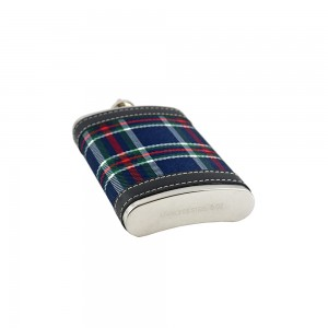 Checkered Print Pocket Hip Flask - 5oz (147 ml)
