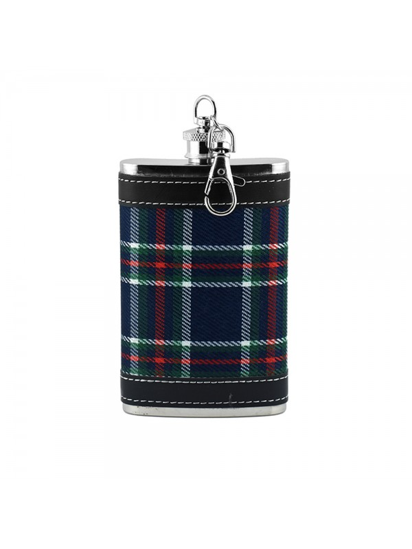 Checkered Print Pocket Hip Flask - 5oz (147 ml)