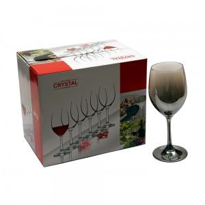 Fancy Metallic Wine Glass - 500 ml