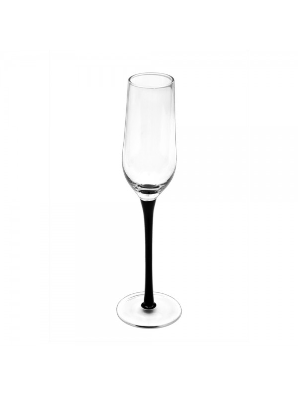 Fancy Champagne Glasses with Black Stem