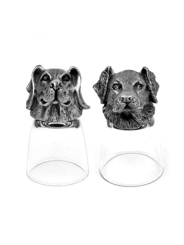 Animal Head Shot Glasses,50ml,Set of 1 Beagle & 1 Labrador
