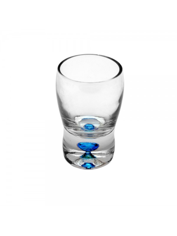 Shot Glasses with Colored Base - Blue