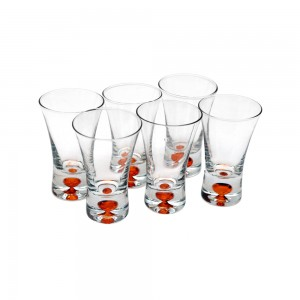 Shot Glasses with Colored Base - orange