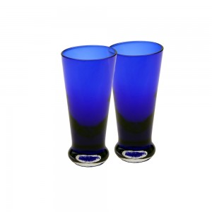 Colored Fancy Shot Glass - Blue