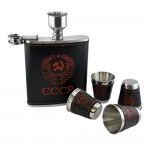 CCCP  Logo  Hip Flask Set - 18 oz