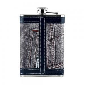 Jeans Print Hip Flask - 9oz (266 ml)