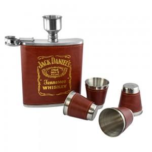 Jack Daniels Hip Flask Set - 18 oz