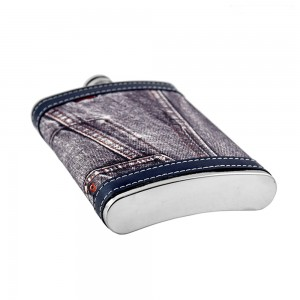 Jeans Print Hip Flask - 9oz (266 ml)
