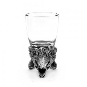 Animal Head Shot Glasses,50ml,Set of 2 German Shepherd