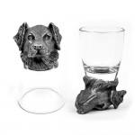 Animal Head Shot Glasses,50ml,Set of 1 German Shepherd & 1 Labrador