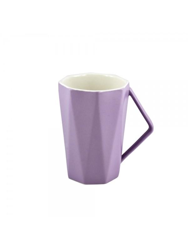 Faceted Pastel Mug - Purple