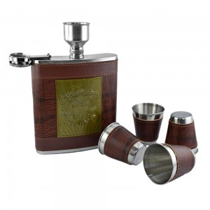 Imperial Eagle Hip Flask Set - 18 oz