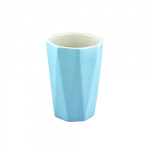 Faceted Pastel Mug - Blue
