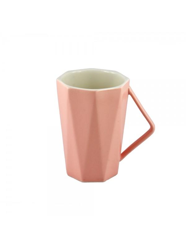 Faceted Pastel Mug - Pink
