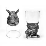 Animal Head Shot Glasses,50ml,Set of 1 Bulldog , 1 Rabbit, 1 Elephant , 1 Rhino , 1 Bison & 1 Pheasand