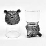 Animal Head Shot Glasses,50ml,Set of 1 Spaniel , 1 Bear , 1 Deer , 1 Dragon , 1 Wolf & 1 Labrador