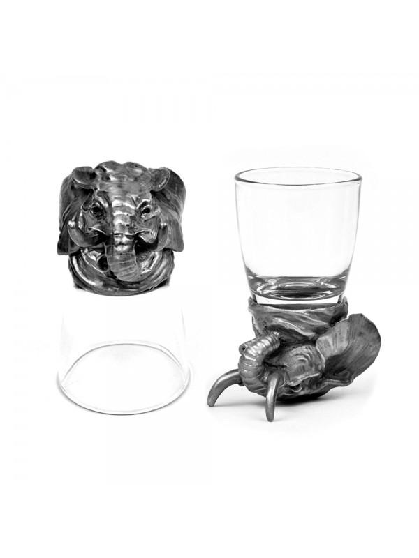 Animal Head Shot Glasses,50ml,Set of 2 Elephant