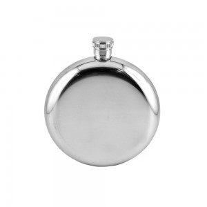 Round Hip Flask With Removable Sling Pouch