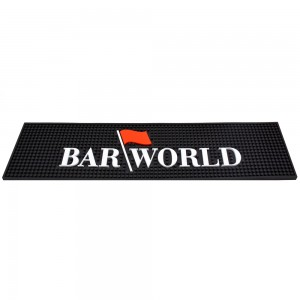 "24"" X 6"" Long  Barmat with Barworld logo"