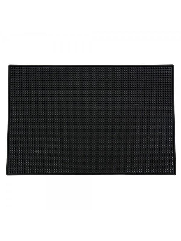 """18"""" X 12"""" Rectangular XL Bar Mat - Plain Black"""