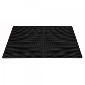 "18"" X 12"" Rectangular XL Bar Mat - Plain Black"