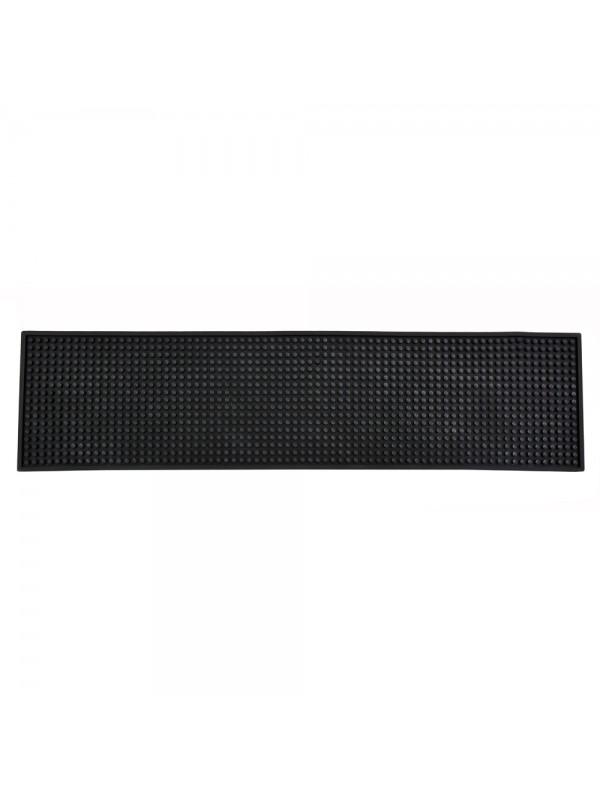 "24"" X 6"" Long Bar Mat - Plain Black"