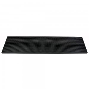"24"" X 6"" Long Bar Mat - Plain Black"
