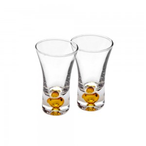 Shot Glasses with Colored Base - yellow