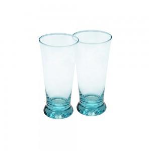 Shot Glasses with Colored Base - aqua blue
