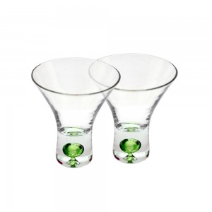 Shot Glasses with Colored Base - Green
