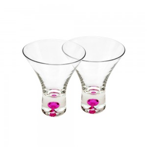 Shot Glasses with Colored Base - pink