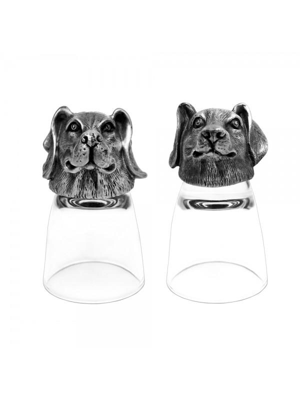 Animal Head Shot Glasses,50ml,Set of 1 Beagle & 1 Dachshund