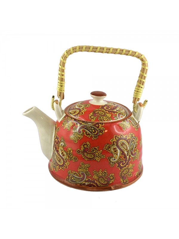 Porcelain Teapot With Cane Handle - 800 ml