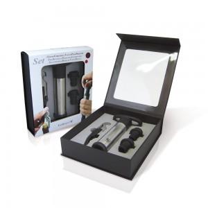 Set of 2 Wine Essentials - Lever Corkscrew And Vacuum Pump Preserver
