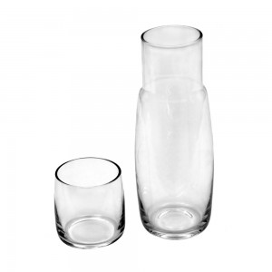 800 ml Clear Glass Carafe with Cup Lid