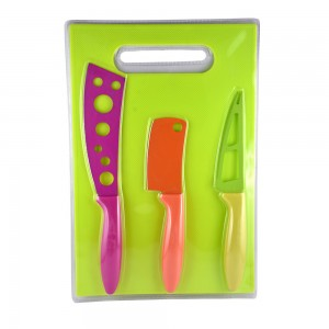 Colorful Cheese Knife Set with Cutting Board