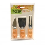 3 pc Cheese Knife and Fork Set