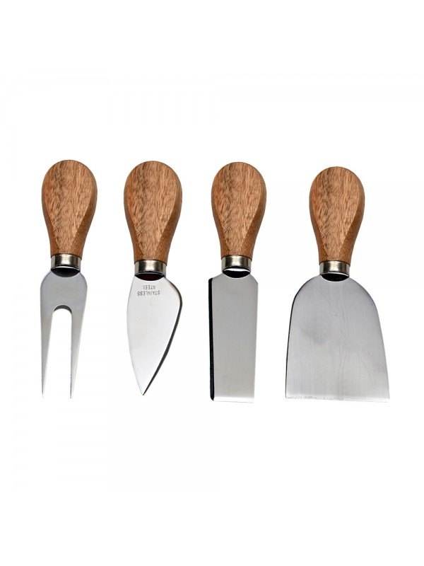4 pc Cheese Knife and Fork Set