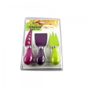 3 pc Colorful Cheese Knife Set