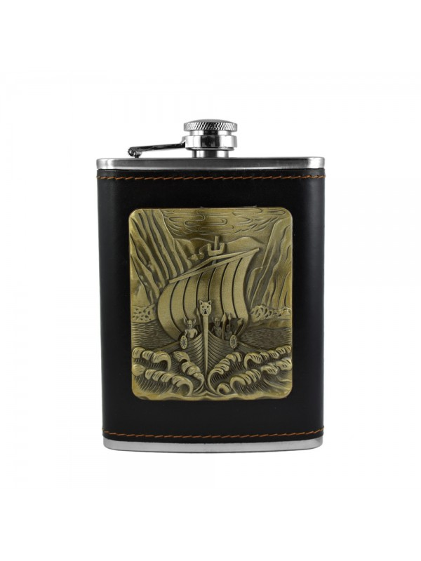 Pirate Ship Hip Flask - 8 oz