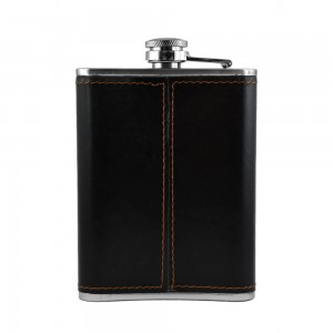 Black Eagle Head Hip Flask - 8 oz