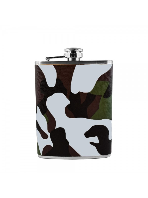 Camouflage Hip Flask - 8 oz