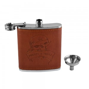 Pirate & Skull Hip Flask Set  - 7 oz