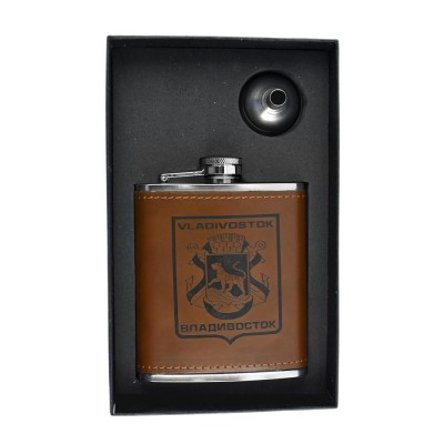 Vladivostok Hip Flask Set - 7 oz