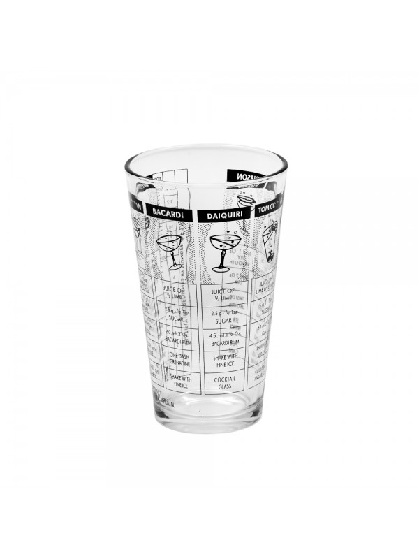 Cocktail Shaker Glass with Recipes