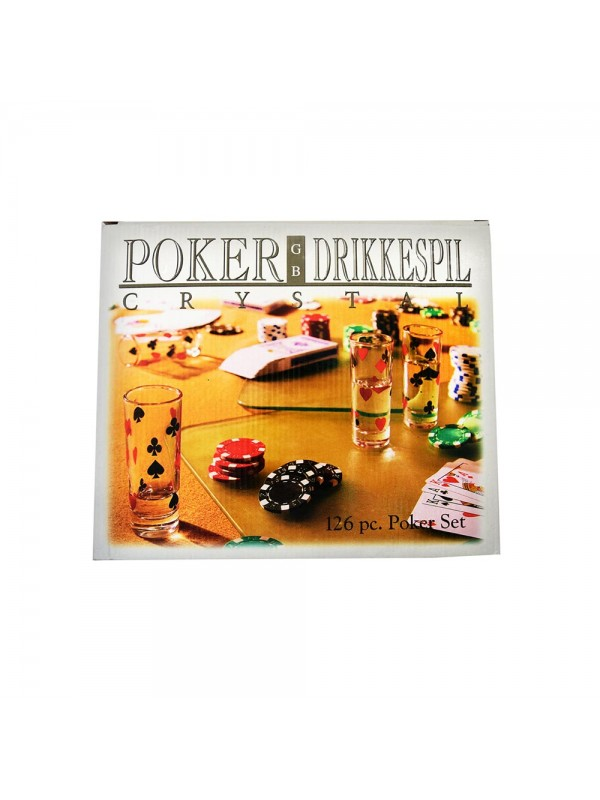 126 pc Poker Drinking Game Set