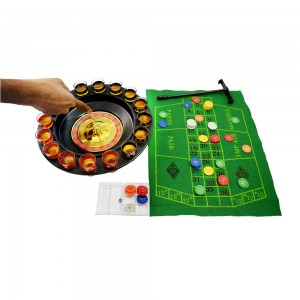 Drinking Roulette Set with Cloth, Chips & Black Jack